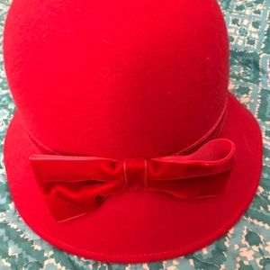 Janie and Jack Felt/ Wool Hat Red Size 6-8 Girls